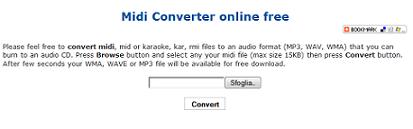 FREE MIDI CONVERTER: CONVERTITORE DI FILE DA MIDI A MP3 GRATIS
