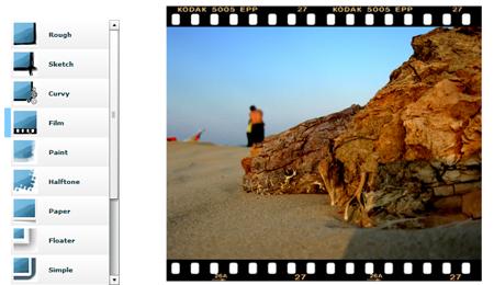Aggiungere cornici ed effetti alle foto online for Effetti foto online