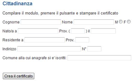 Calcolo del codice fiscale da comuni it buongiorno tech for Codice fiscale da stampare