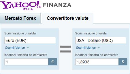 a6692a575a CONVERTITORE EURO DOLLARO PER CAMBIO VALUTA ONLINE | BUONGIORNO TECH